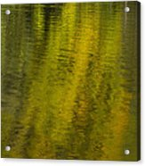 Water Reflection Abstract Autumn 1 A Acrylic Print