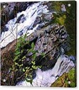 Water Running Down Ledge Acrylic Print