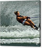 Water Skiing Magic Of Water 2 Acrylic Print by Bob Christopher