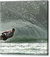 Water Skiing Magic Of Water 7 Acrylic Print by Bob Christopher