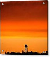 Water Tower And Sunset Acrylic Print