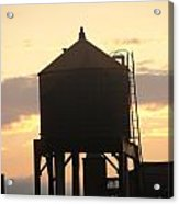 Water Tower At Sunset Acrylic Print