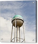 Water Tower With A Cellphone Transmitter Acrylic Print by Paul Edmondson