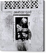 Water Vendor In Jaipur Acrylic Print