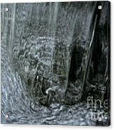 Water Wall And Whirling Bubbles Acrylic Print