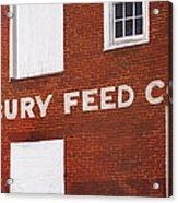 Waterbury Feed Acrylic Print