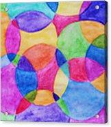 Watercolor Circles Abstract Acrylic Print