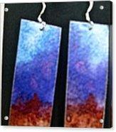 Watercolor Earrings Artists Favorite Acrylic Print