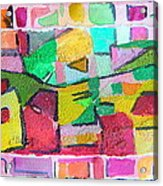 Watercolor Jazz Acrylic Print