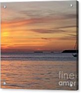 Watercolor Sunset Acrylic Print