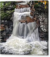 Waterfall At Ricketts Glen Acrylic Print