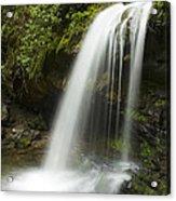 Waterfall At Springtime Acrylic Print by Andrew Soundarajan