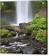 Waterfall In Gorge - Columbia River Gorge Acrylic Print