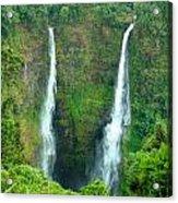 waterfall in Laos Acrylic Print