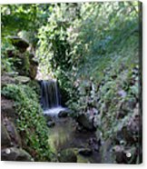 Waterfall In Prospect Park Acrylic Print