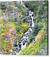 Waterfall In Skagway Acrylic Print