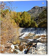Waterfall In The Desert Acrylic Print