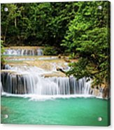 Waterfall In Tropical Forest Acrylic Print
