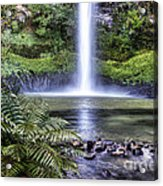 Waterfall Acrylic Print by Les Cunliffe