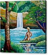 Waterfall Nymph Acrylic Print