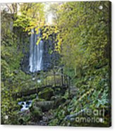 Waterfall Of Vaucoux. Puy De Dome. Auvergne. France Acrylic Print
