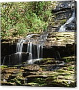 Waterfall Over Rocks Acrylic Print