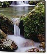 Waterfall, Peter Lougheed Provincial Acrylic Print