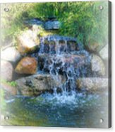 Waterfall Acrylic Print by Rebecca Frank