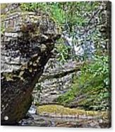 Waterfall Rock Acrylic Print