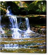 Waterfall Trio At Mcconnells Mill State Park Acrylic Print