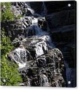 Waterfalls Along Going-to-the-sun Road Acrylic Print