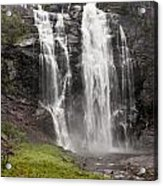 Waterfalls Over A Cliff Norway Acrylic Print