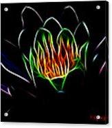 Waterlily Fractal Acrylic Print