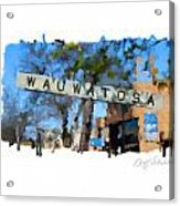 Wauwatosa Railroad Sign Acrylic Print
