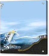 Wave Energy Converter, Artwork Acrylic Print by Claus Lunau