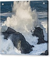 Wave Meets Seastack Acrylic Print