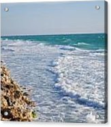 Waves At The Beach Acrylic Print