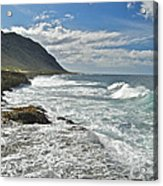 Waves Breaking On Shore 7876 Acrylic Print