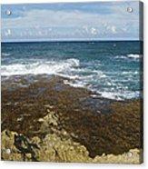 Waves Breaking On Shore 7930 Acrylic Print