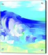 Waves Crashing On The Beach Acrylic Print