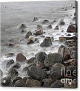 Waves Hitting The Shore Acrylic Print