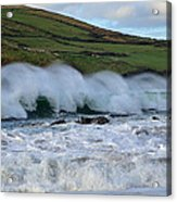 Waves In Dingle Acrylic Print by Barbara Walsh