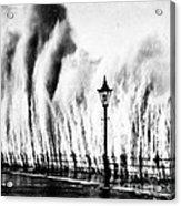 Waves Smashing Seawall, 1938 Acrylic Print