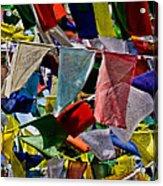 Waving Prayer Flags Acrylic Print
