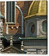 Wawel Domes In Krakow Poland Acrylic Print