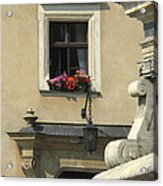 Wawel Flower Box And Achitecture Acrylic Print