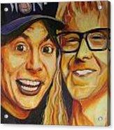 Wayne And Garth Acrylic Print