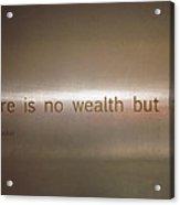 Wealth And Life Acrylic Print