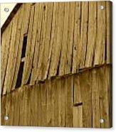 Weathered Barn I In Sepia Acrylic Print