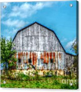Weathered Barn Acrylic Print